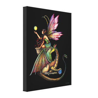 Dragon's Orbs Fairy Canvas Print
