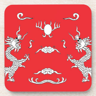 dragons-red beverage coaster