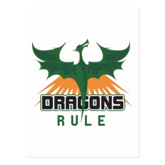 DRAGONS RULE POSTCARD