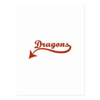 DRAGONS SCRIPT POSTCARD