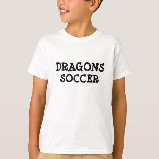 DRAGONS, SOCCER WHITE T-SHIRT
