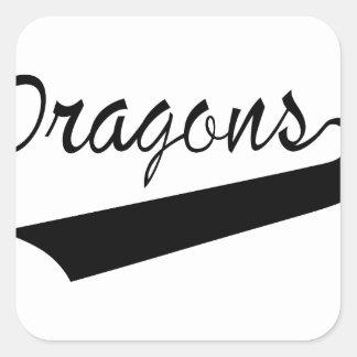 Dragons Square Sticker