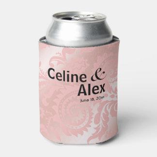 Dragontail Paisley Metallic Beer Koozie | pink