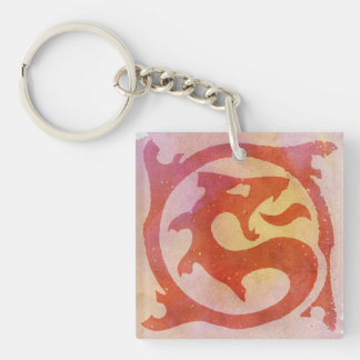 Dragoon Network Single-Sided Square Acrylic Key Ring