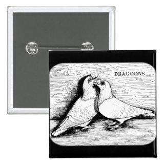 Dragoon White Pair Pinback Button