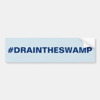 #DRAIN THE SWAMP BUMPER STICKER