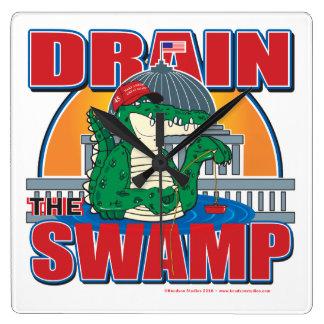 Drain The Swamp in Washington Square Wall Clock