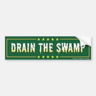 DRAIN THE SWAMP Stop Bad bureaucrats & Politicians Bumper Sticker