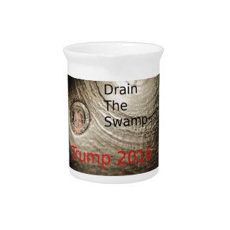 Drain The Swamp Trump-Clinton Political Design Pitcher