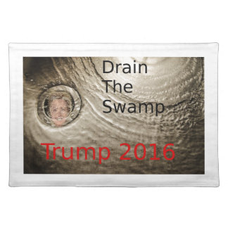 Drain The Swamp Trump-Clinton Political Design Placemat