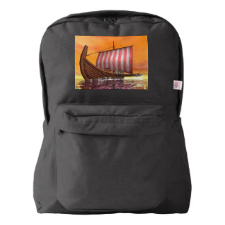 Drakkar or viking ship - 3D render Backpack