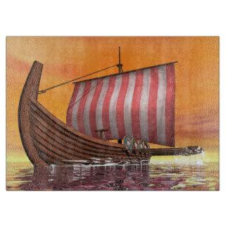 Drakkar or viking ship - 3D render Cutting Board