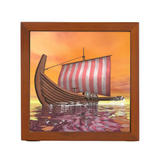 Drakkar or viking ship - 3D render Desk Organiser