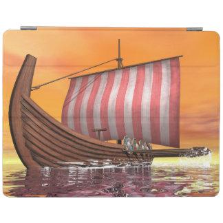 Drakkar or viking ship - 3D render iPad Cover