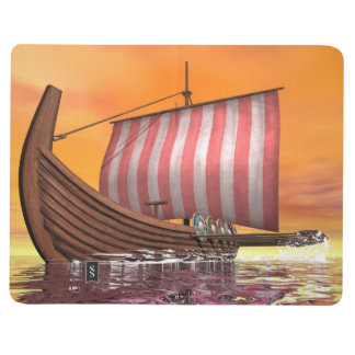 Drakkar or viking ship - 3D render Journal