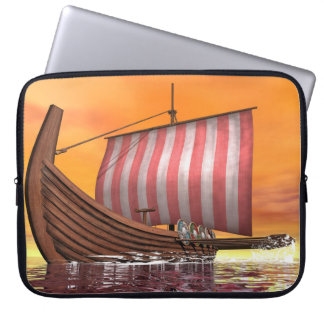 Drakkar or viking ship - 3D render Laptop Sleeve