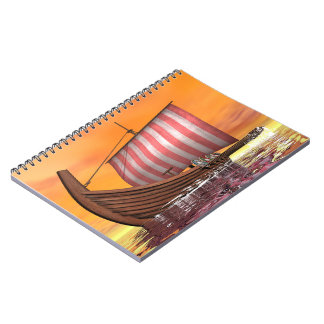 Drakkar or viking ship - 3D render Notebooks