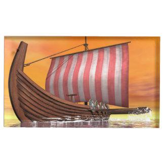 Drakkar or viking ship - 3D render Table Card Holder