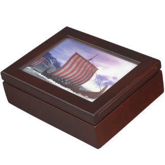 Drakkars - 3D render Keepsake Box