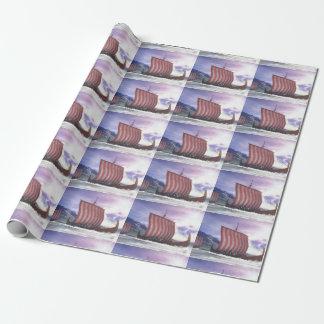 Drakkars - 3D render Wrapping Paper