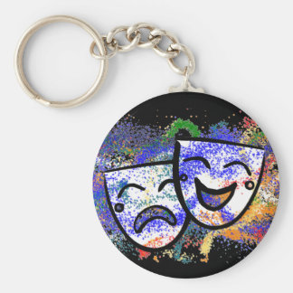 Drama: A Splash of Technicolor Key Ring