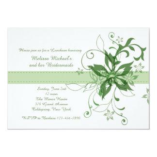 Drama and Fanfare Green Invitation
