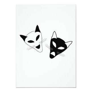 Drama Cats Birthday 11 Cm X 16 Cm Invitation Card