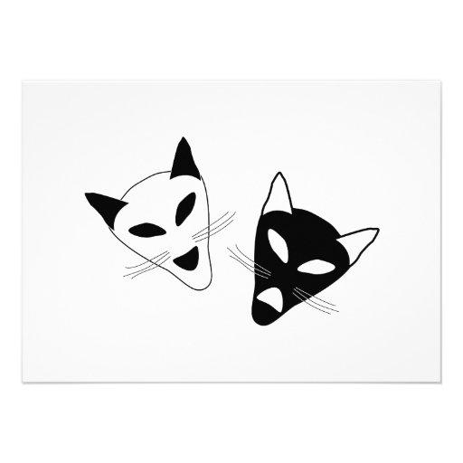 Drama Cats Birthday Custom Announcements