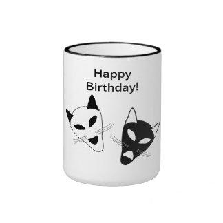 Drama Cats Birthday Ringer Mug