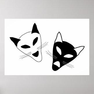Drama Cats Birthday Posters