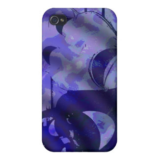 drama comedy masks blue cases for iPhone 4