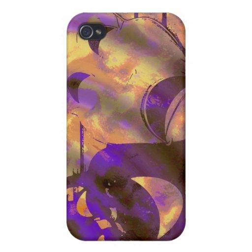 drama comedy masks purple yellow iPhone 4 case
