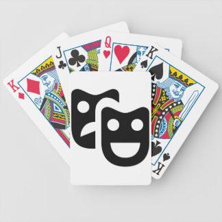 Drama Faces Bicycle Playing Cards