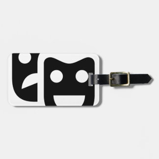 Drama Faces Luggage Tag