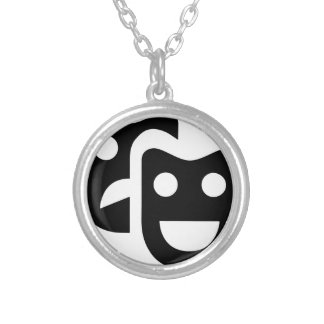 Drama Faces Silver Plated Necklace