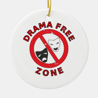 Drama Free Zone Ceramic Ornament
