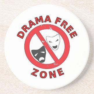 Drama Free Zone Coaster
