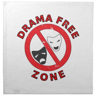 Drama Free Zone Napkin
