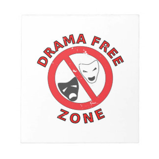 Drama Free Zone Notepad