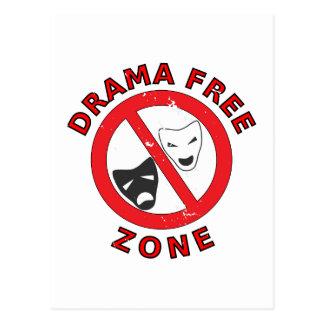 Drama Free Zone Postcard