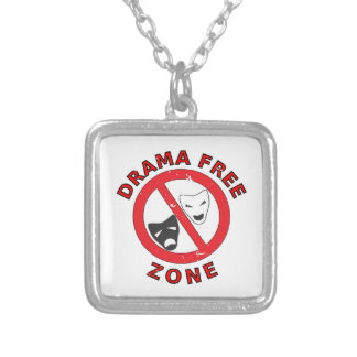 Drama Free Zone Silver Plated Necklace