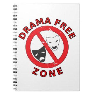 Drama Free Zone Spiral Note Books