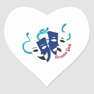 Drama Geek Heart Stickers