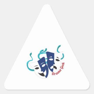 Drama Geek Triangle Sticker
