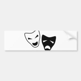 Drama Icons Bumper Sticker