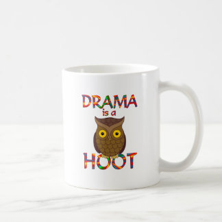 Drama is a Hoot Classic White Coffee Mug