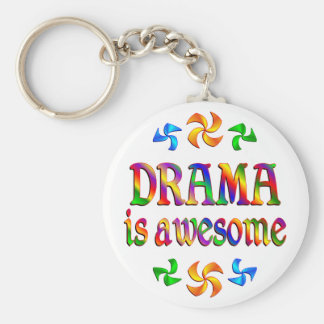 Drama is Awesome Basic Round Button Key Ring