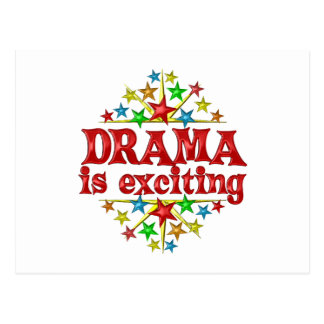 Drama is Exciting Postcard