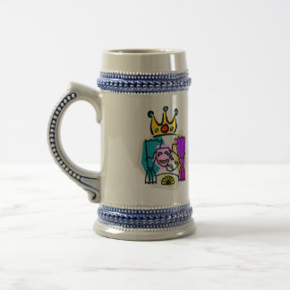 Drama King with Drama King in script letters 18 Oz Beer Stein
