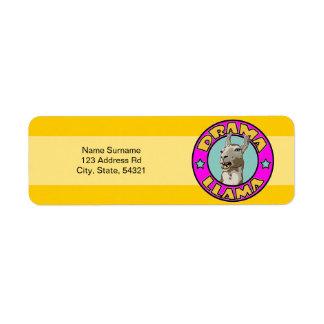 Drama Llama, Return Address Label